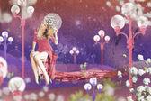 Art image with beautiful woman — Stock Photo