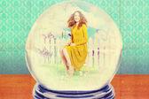 Sztuka kolażu z piękną kobietą — Zdjęcie stockowe