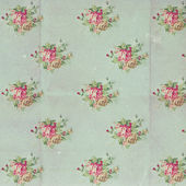 Vintage pattern with blue flowers — Stock Photo