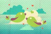 Grafik mit vögeln — Stockfoto