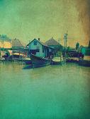 Village sur l'eau — Photo
