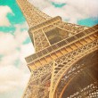 Retro photo with paris, france, vintage — Stock Photo