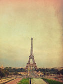 Retro photo with paris, france, vintage — Stock Photo