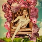 Beautiful young woman in garden — Stock Photo #6538934