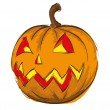 Sketch. Pumpkin on Halloween - Stock Vector