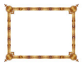 Frame with an ornament in the old Russian style — Stock Vector