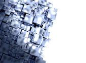 абстрактный фон металлических кубиков — Стоковое фото