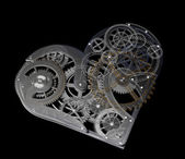 Heart symbol made out of cogs and gears — Stock Photo