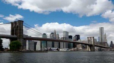 Nueva york - puente de brooklyn — Vídeo de Stock