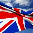 Stock Video: United Kingdom Flag.