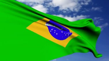 Brazilian Flag. — Stock Video