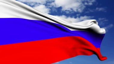 Russian flag. — Stock Video