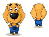 ベクトル犬のズボン — ストックベクタ