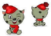 Wektor kotek w czapkę — Wektor stockowy