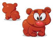Medvěd, přední a zadní — Stock vektor
