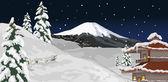 Vinter kväll — Stockvektor