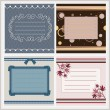 Set of greeting card — Stock Vector