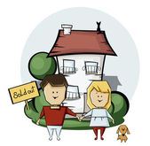 Buying a home — Stock Vector