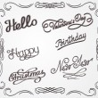 Vector de stock : Handwritten lettering