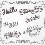 Handwritten lettering — Stock Vector