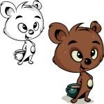 Bear with honey — Stock Vector #33054799