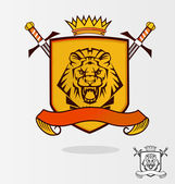 Vector Lion Coat of Arms — Stock Vector