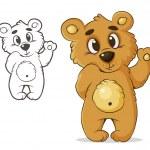 Teddybear — Stock Vector