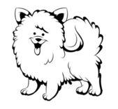 Black and white fun dog — Stock Vector