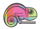 Chameleon icon — Stock Vector