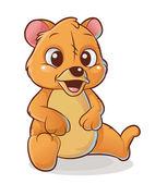 Happy bear — Stock Vector