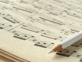 Notes and pencil — Stock Photo