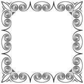 Calligraphic frame — Stock Vector