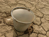 Bucket full of water  — Stock Photo