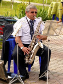Saxofonisten — Stockfoto