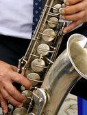 Saxofón tenor — Foto de Stock