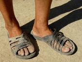 Dirty feet — Stock Photo