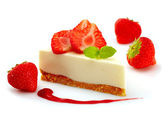 Strawberry cheese cake — Stock fotografie