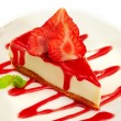 Strawberry cheesecake - Stock Photo