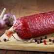 Stock Photo: Salami sausage