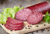 Salami sausage — Stock Photo