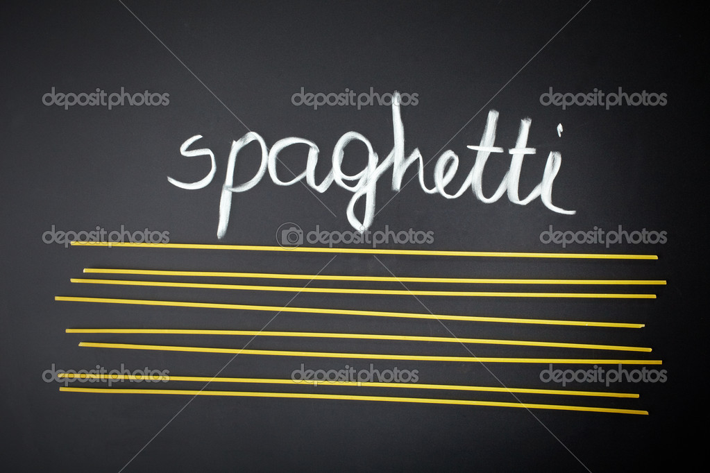 Spaghetti on black background — Stock Photo #18952077