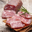 Royalty-Free Stock Photo: Salami sausage and bread
