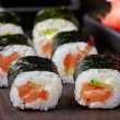 Sushi with salmon and avocado — Stock Photo #20295403