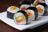 Sushi with salmon and avocado — Stock Photo