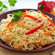 Chinese noodles with vegetables — Stock Photo