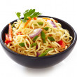 Bowl of chinese noodles with vegetables — Stock Photo #24029691