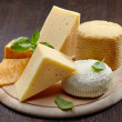 Various types of cheese — Stok fotoğraf