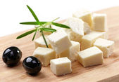 Fresh feta cheese — Stock Photo