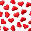 Red hearts background — Stock Photo #25258311