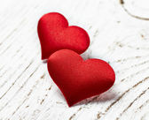 Two red hearts — Foto de Stock